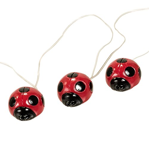 (4 Pack) Solar Powered Decorative Lady Bug LED String Lights