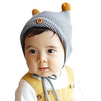 Amazon.com: Fedi Apparel Baby Infant Cotton Cute Hat Boy Girl Knitted