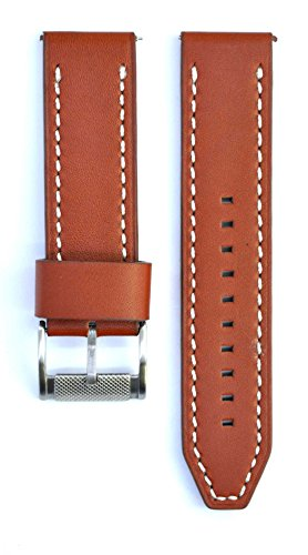 Fossil Brown Leather Strap - 24mm Leather Suitable For FS5041 ME1121 FS4887 ME1122 Watches Band Strap (brown)