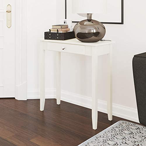 DHP Rosewood Tall Sofa Console Table, Multi-purpose Small Space Table, White
