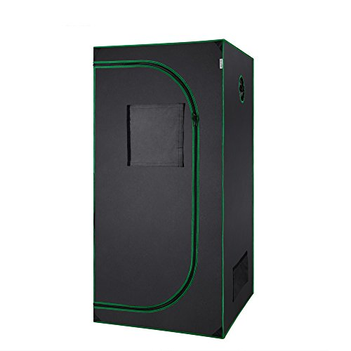 $61.98 indoor grow tent packages MELONFARM Mylar Waterproof Hydroponic 36″x20″x63″ Grow Tent with Removable Floor Tray for Indoor Seedling Pant Growing 2019