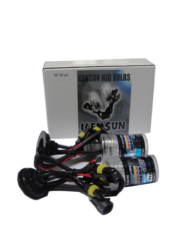 Kensun HID Xenon 55 Watt Replacement Bulbs 9006 (HB4) - 8000K