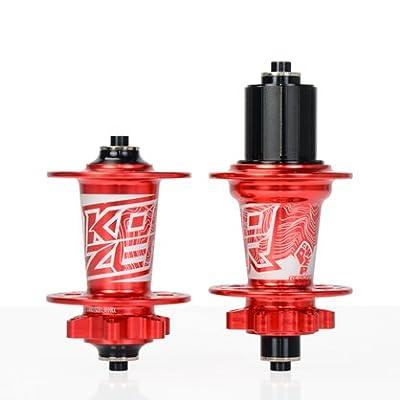 Red KOOZER XM490 Bicycle Hub 32H Front&Rear MTB/Road 9x100MM 10x135MM