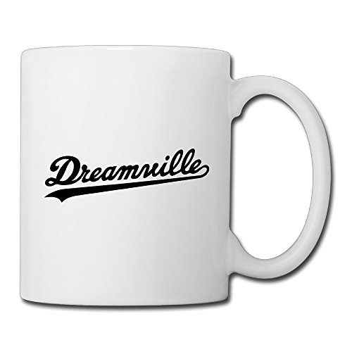 Christina Dreamville Records Logo Ceramic Coffee Mug Tea Cup White (1 Liter Gatorade Water Bottle)