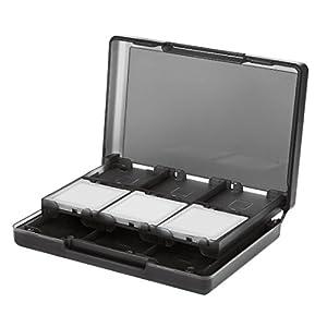 AmazonBasics – Funda para cartuchos de juegos de Nintendo 3DS con 24 ranuras, Negro