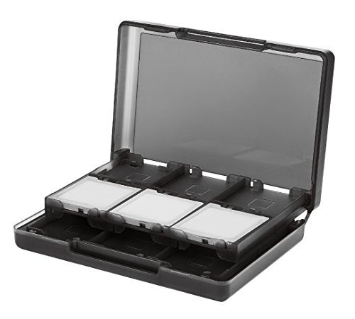 AmazonBasics Nintendo 3DS Game Card Storage Case Holder with 24 Cartridge Slots - 3 x 5 x 1 Inches, Black