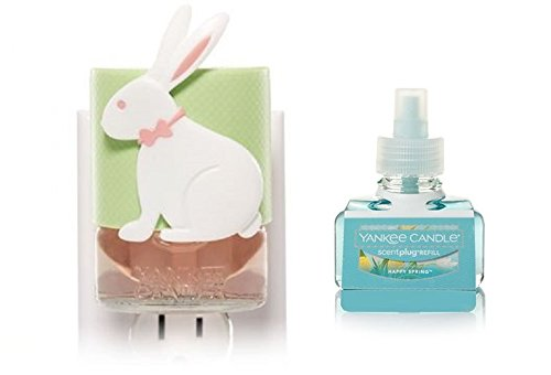 Yankee Candle Spring Bunny Scent Plug Diffuser Unit With Happy Spring Home Fragrance Electric Refill
