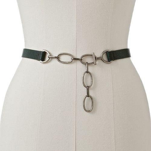 Croft & Barrow Womens Adjustable Chain Fashion Belt Sizes S/M and L/XL