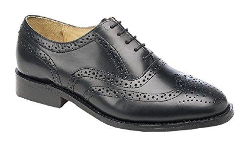 Cap Brogue Wing Mens Black Shoes Kensington xqTYfAP7