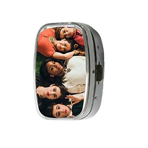 Turekk Custom Fifth Harmony Personality Style Sliver Stainless Steel Square Pill Box Pill Case Vitamins (Fifth Harmony Birthdays)