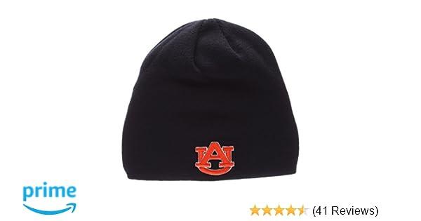 Amazon.com   ZHATS Auburn Tigers Navy Edge Skull Cap - NCAA Cuffless Winter  Knit Beanie Toque Hat   Sports   Outdoors e6925734ef4d