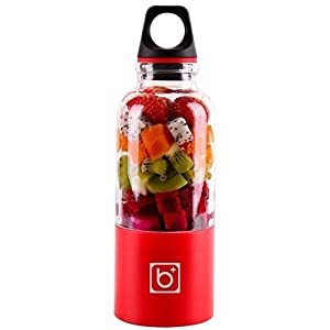 500ml 4 Lame Portatile Blender Blender Estrattore Di Succo Di Vetro A Mano Mixer Smoothie Blender Smoothie Usb… 3 spesavip