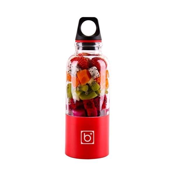 500ml 4 Lame Portatile Blender Blender Estrattore Di Succo Di Vetro A Mano Mixer Smoothie Blender Smoothie Usb… 1 spesavip