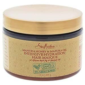 Shea Moisture Manuka Honey and Mafura Oil Intensive Hydration Masque for Unisex - 12 oz