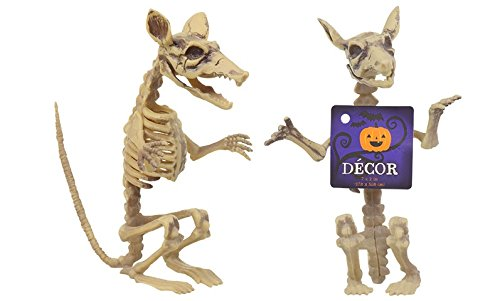 2 Ugly Rat Skeletons, Great for Halloween Spooks, Gags! ()