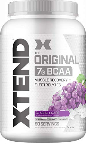 Scivation Xtend BCAA Powder, 7g BCAAs, Branched Chain Amino Acids, Keto Friendly, Glacial Grape, 90 Servings (Fast Recovery Bcaa)