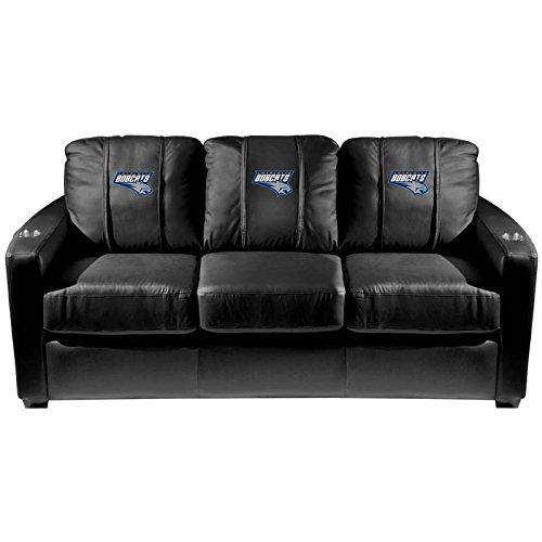 XZipit NBA Silver Sofa with Charlotte Bobcats Logo Panel, Black