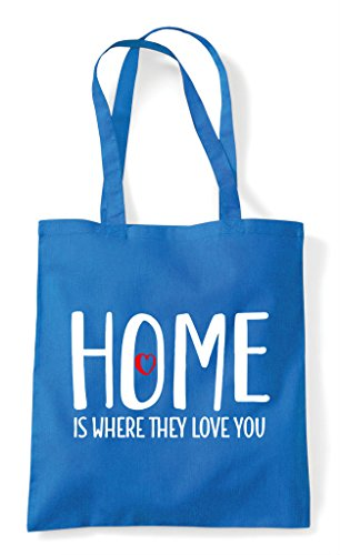 Love Is Where Shopper Statement They You Tote Family Sapphire Bag Home qtTawdnUT
