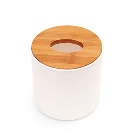Caja de pañuelos Decorativa, Redonda, de Madera, para Papel, dispensador de servilletas