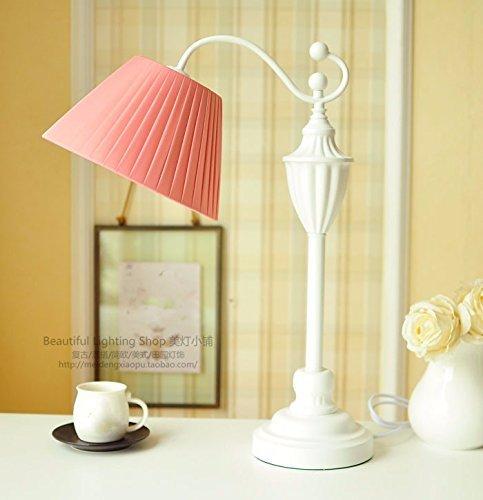 HYW Tischlampe-Schlafzimmer Kopflampe Continental Mix frische nordische Literatur und Art-Deco-Lampen