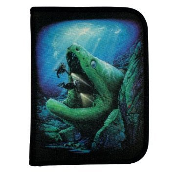 New Scuba Diving 3 Ring Zippered Log Book Binder with FREE Generic Log Insert ($12.95 Value) - Eel Cave (Amphibious (3 Ring Log Book)