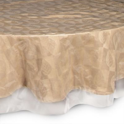 Suitable and Durable 90'' Inch Round 100% Vinyl Waterproof Plastic Table Cover with '' Crystal Clear '' PVC Tablecloth Protector - By Home Covers by Home Covers (Image #2)