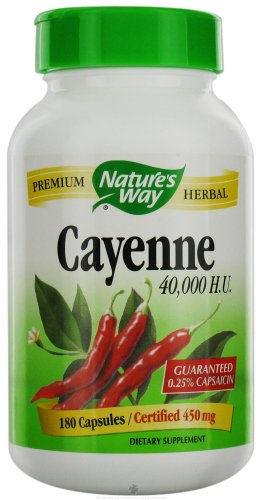 Cayenne - 40,000 HU, 450 mg 180 caps ( Multi-Pack) ()