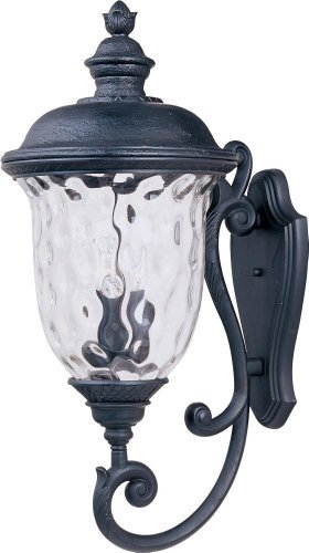 Maxim Lighting 3425WGOB Carriage House DC 3-Light Bottom Mount Outdoor 31-Inch Wall Lantern, Oriental Bronze Finish by Maxim...