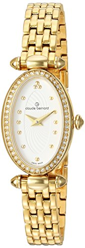 Claude Bernard Women's 'Mini Collection' Swiss Quartz and Stainless-Steel Dress Watch, Color:Gold-Toned (Model: 20210 37JPM AID)