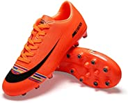 MABEIBEI Football Sneakers for Mens Soccer Boots Indoor-TF Turf Cleats Low top Ankle Boots Women Turf Outdoor
