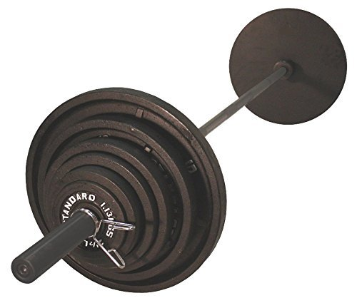 USA Sports Olympic Black Weight Set Black Bar - 300 Pounds (Best Olympic Bar And Weight Set)