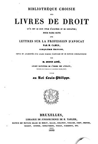 Lettres Sur La Profession D Avocat French Edition Kindle