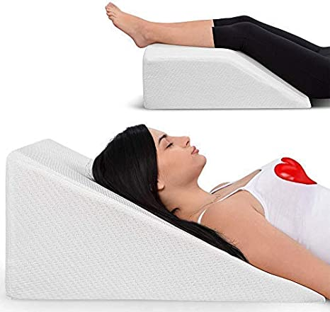Wedge Pillow Acid Reflux Memory Foam Foot Leg Knee Washable Bed Sleeping Cover