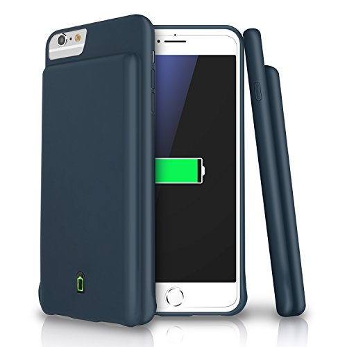 iPhone 8 / 7 / 6s / 6 Battery Case, LoHi 4000mAh Capacity Support Headphones Ultra Slim Extended Battery Rechargeable Protective Portable Charger 4.7 Inch Blue manufacturer: LoHi
