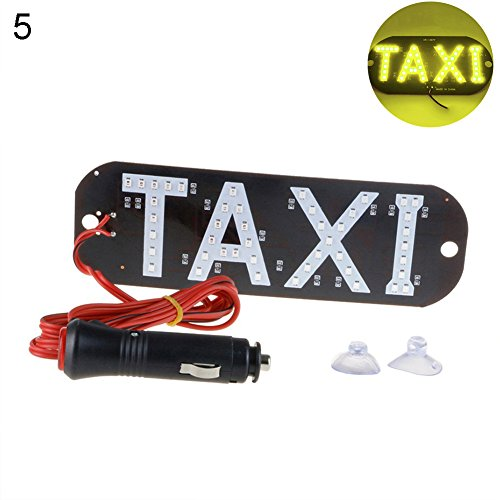 ink2055 Taxi LED License Plate Car Sign Light Windscreen Cab Indicator Inside Signal Lamp ()
