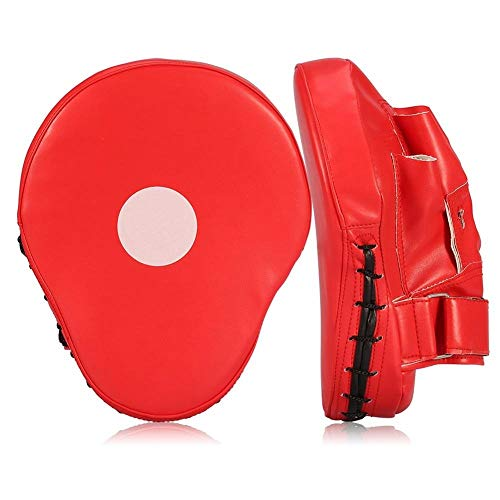Valleycomfy Boxing Curved Focus Mitts- Leather Training Hand Pads,Ideal for Karate, Muay Thai Kick, Sparring, Dojo, Martial Arts