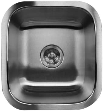 Nantucket Sinks NS1816 18-Inch Undermount Stainless Steel Single Bowl Bar Prep Sink
