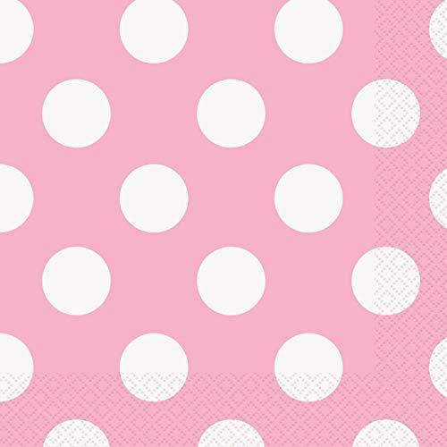 "Polka Dot Plastic Tablecloth, 108"" x 54"", Light Pink"