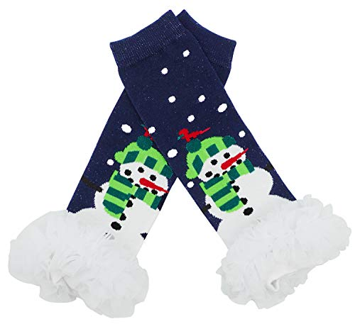 Bienvenu Baby & Toddler Leg Warmers for Girls & Boys,Christmas Styles,Snowman,One Size