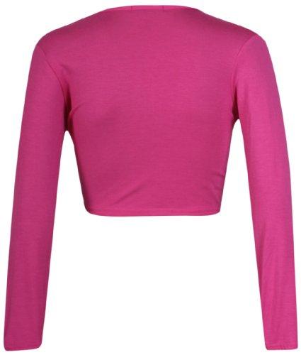 Cardigan Top Elasticizzato da Donna Tagliato Purple Nodo Lunghe spallucce di Bolero Avanti Cravatta Rosso Lunga Hanger da Donna wqSZBzF