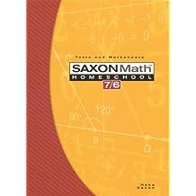 Saxon Math 7/6, Homeschool Edition: Tests and Worksheets (Reproducible)