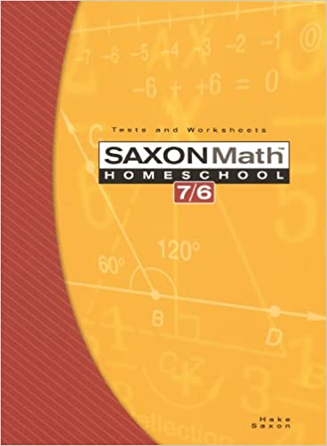 Amazon.com: Saxon Math 7/6, Homeschool Edition: Tests and ...