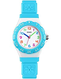 Kids Watches for Girls Boys - CakCity Waterproof Cute Cartoon Analog Quartz Wrist Watch for Kids Birthday Gifts Time Teacher for Children