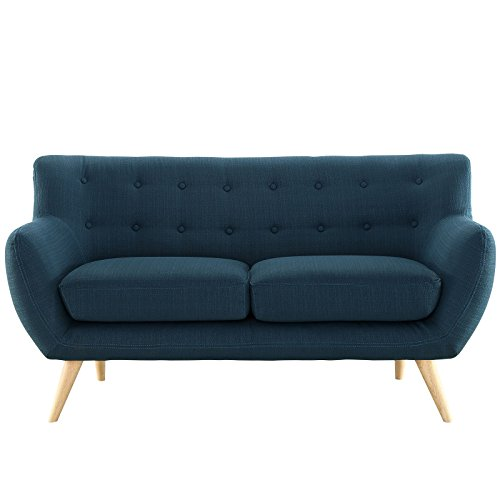 Modway Remark Mid-Century Modern Loveseat With Upholstered F