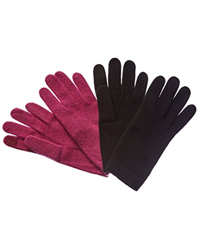 Portolano Womens Set Of 2 Cashmere Tech Gloves, - Portolano Cashmere