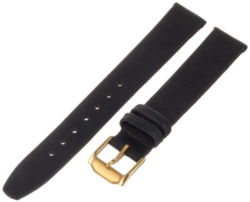 Hadley-Roma Men's MSM976RA-150 15-mm Black Genuine Calfskin Leather Watch Strap