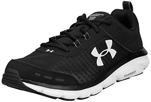 Under Armour Men's Charged Assert 8 Running Shoe, Black (001)/White, 12