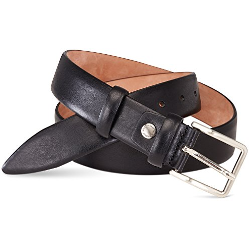 Italian Leather Belt - Men's Comfort Genuine Leather Dress Belt with Pin Buckle 1.3' In Gift Box