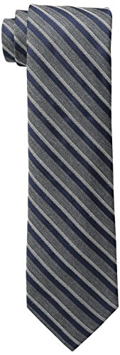Calvin Klein Satin Tie (Calvin Klein Men's HC Flannel Satin Stripe Tie, Navy, One)