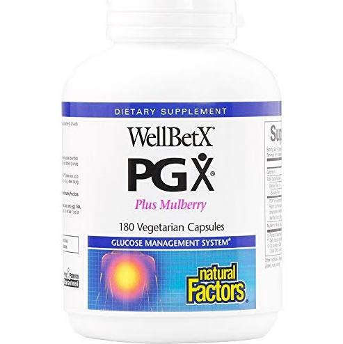 (Natural Factors Wellbetx PGX Plus Mulberry Veg. Capsules, 180-count (180 X)
